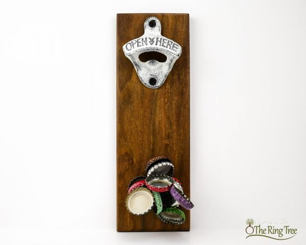 CapCollector magnetic bottle opener will catch and hold 30-40 bottle caps.