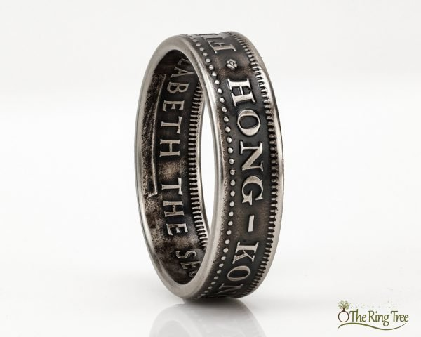 Hong Kong 50 Cent coin ring