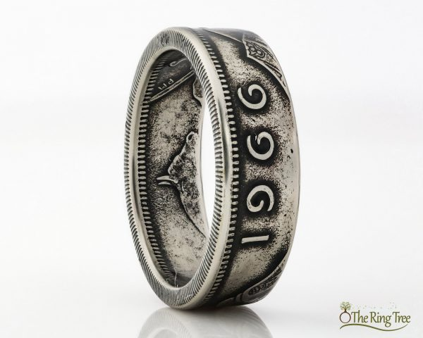 Irish coin ring made from an old shilling