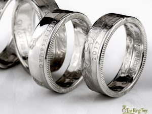 Silver National Park quarter rings with clean finish