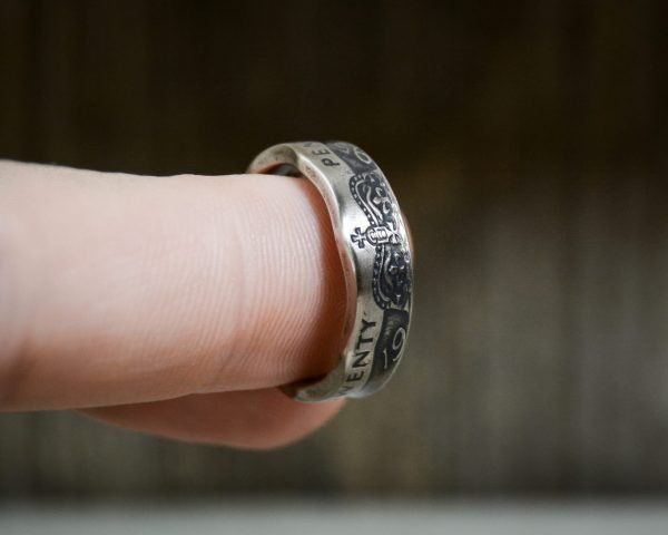 UK 20 Pence coin ring