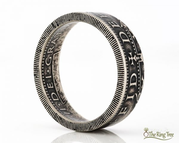 UK 1 Shilling coin ring